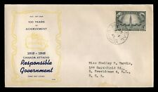DR WHO 1948 CANADA FDC RESPONSIBLE GOVERNMENT  C228359