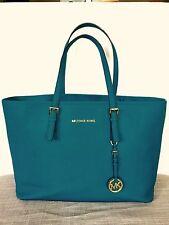 Authentic Michael Kors Jet Set Turquoise Saffiano Leather Bag