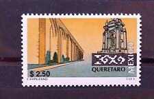 Mexico Queretaro Perm Series $2.50 Fountain Tourism Arch Aqueduct Water Trees NH