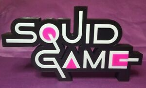 Squid Game - 3D Printed TV show logo - This is a great piece of shelf art. (A)