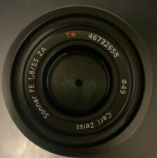 Sony Zeiss 55mm f1.8 with UV filter