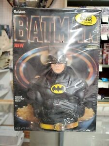 Vintage Ralston Batman Cereal Box Factory Sealed Bank Toy Brand New Sealed