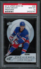 2012 13 UD Upper Deck Ice Chris Kreider Rookie RC /99 PSA 10 Gem Mint