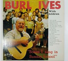 RARE_!!! BURL IVES SINGS WITH THE CHILDREN WORD STEREOPHONICS WST-8130-LS