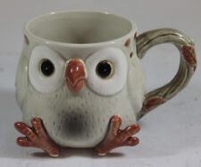 Vintage 70s Fitz & Floyd Ceramic Pottery Spotted Owl Replacement Coffee Tea Cup