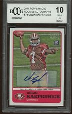 2011 topps magic RC's autographs COLIN KAEPERNICK rookie BGS BCCG 10