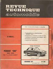 REVUE TECHNIQUE AUTOMOBILE 308 RTA 1971 PEUGEOT 204 304 BERLINE COUPE CABRIOLET
