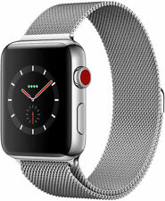 Apple watch series 3 stainless steel GPS + Cellullar 42mm Silver Milanese Band