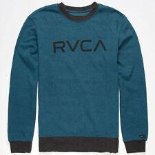 RVCA Specks Mens Sweatshirt XXL 2XL Blue Speckled Print pullover fleece