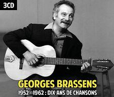 CD Georges Brassens / 1952 – 1962 : Dix ans de chansons / Coffret 3 CD