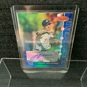 Justin Verlander Bowmans Bowman's Best Rookie Card 2005 Autograph Auto 019/299
