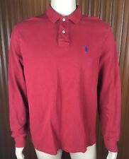 (Used) Polo Ralph Lauren Mens Long Sleeve Polo Shirt Size: XL Red *fading*