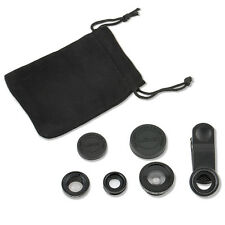3in1 Fish Eye+Wide Angle Micro Lens Camera Kit Set for iPhone 5G 4S 4 i9300 New