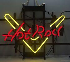 "17""x14""Hot Rod Neon Sign Light Movie Beer Bar Pub Home Room Handmade Wall Poster"