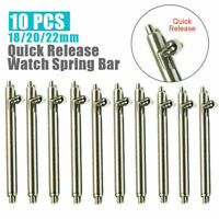 10pcs Quick Release Detachable Pins Spring Bar Watch Band Strap 18mm 20mm 22mm