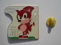 Sega SONIC the Hedgehog Rare KNUCKLES Vintage MINT Enamel METAL PIN BADGE Pins