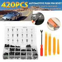 420x Car Body Trim Clips Retainer Bumper Rivets Screw Panel Push Fastener Kit