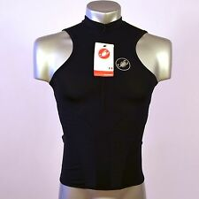 Genuine Castelli Rosso Corsa Sleeveless Cycling Jersey Black Size M