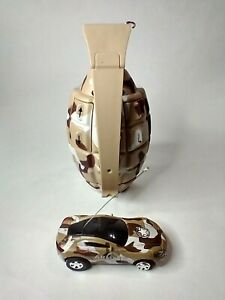 """3"""" Mini Remote Control RC Grenade Camouflage Car Works Great"""
