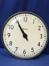 """13"""" SIMPLEX 95925 SLAVE CLOCK SCHOOLHOUSE ELECTRIC HANGING WALL GLASS"""