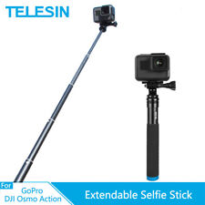 TELESIN Aluminum Alloy Extendable Selfie Stick for GoPro Osmo Action Xiaomi Yi