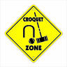 Croquet Crossing Decal Zone Xing set wooden balls game player mallet lawn