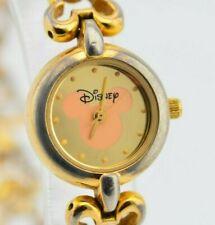 H533 Ladies Vintage Gold Time Works Disney Mickey Mouse Quartz Watch JDM 6.2