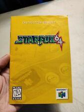 Nintendo 64 N64 Starfox 64 Instruction Booklet Manual