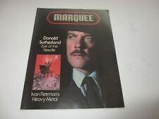 DONALD SUTHERLAND Marquee magazine July 1981 Brooke Shields FARRAH FAWCETT