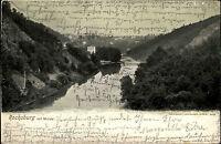 Rochsburg Sachsen alte AK 1903 Mulde gelaufen nach Lunzenau mit Ankunftsstempel