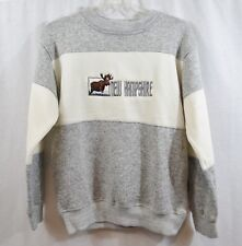 Vintage Renegade Club Embroidered New Hampshire Moose Color Block Sweater Size M