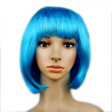 New Women Full Bangs Wig Short Wig Straight BOB Hair Cosplay Party Fashion Dress
