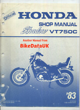 Honda VT750C Shadow RC14 (1983 >>) Factory Shop Manual Repair Book VT 750 C CR98