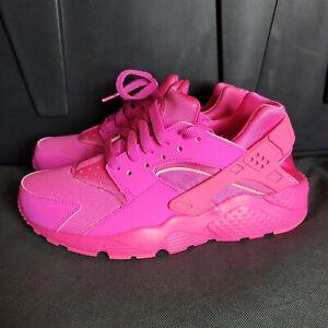 Nike Huarache Run (GS) Laser Fuchsia 654275-607 Size 6Y / Womens 7.5 NEW