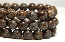 8mm Brown Snowflake Obsidian Gemstones Round Beads Natural Full Strand B-25D