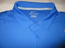 NIKE MEN'S TENNIS SHIRT XXL BLUE POLYESTER DRI-FIT STAY COOL NEW WITH TAGS