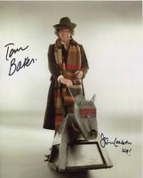 Doctor Who Photo Signed In Person By Tom Baker and John Leeson - B687