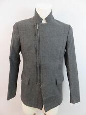 Emporio Armani Herren Matt Line Jacke Jacket Grau 46 Wolle & Kaschmir & Stretch