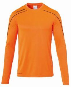 Uhlsport Sport Football Soccer Training Kids Long Sleeve Jersey Shirt Top Crew N