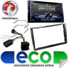Vauxhall Antara JVC Double Din CD MP3 USB AUX Car Stereo Piano Black Fitting Kit