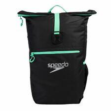 Speedo Team Rucksack III - Swimming Kit Bag - Black/Green