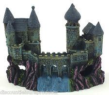 Aquarium Castle Fort With Bridge Waterfall Ornament Fish Tank Decoration #1027R