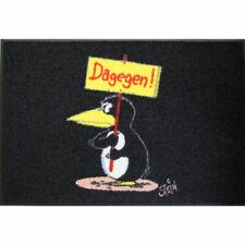 Waschbare Fußmatte ©Uli Stein Pinguin - Dagegen - 50x75cm wash+dry Fußabstreifer