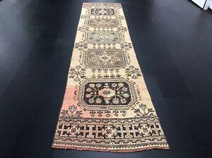 Antique Turkish Runner Rug, Bohemian Decor Runner Rug, Handmade Wool Rug, C220