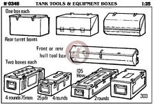 Verlinden 1/35 Tools & Equipment and Ammo Boxes for Tank Hull and Turret 346