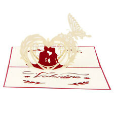 Red Greeting Cards 3D Pop Up Card Valentine's Day Birthday For Lover