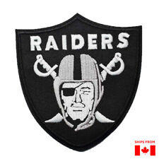 Oakland Las Vegas Iron On Patch Raider Black Embroidered Raiders Patch
