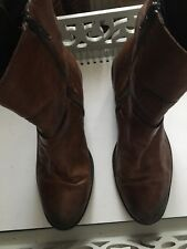 Clarks Size Uk 6 / Eur 39 Ladies Brown Leather  Ankle Boots