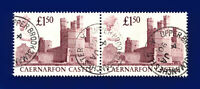 1988 SG1411 £1.50 Caernarfon Castle UK2 Pair Manchester 4 JA 90 Good Used ctll