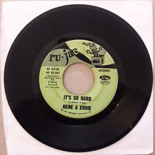 "Gene & Eddie It's So Hard RU-JAC 45rpm 7"" single rare Baltimore funk soul vinyl"